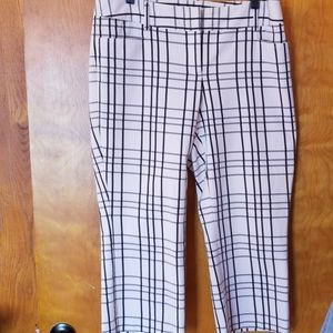 Express Plaid Capris
